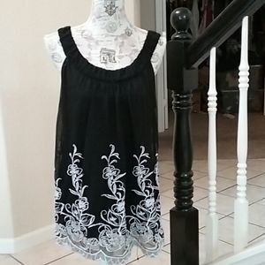 Alfani Embroidered Dress